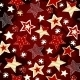 Stars on Red Mosaic Background - GraphicRiver Item for Sale