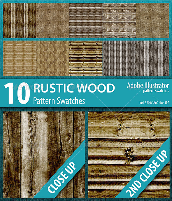 GraphicRiver 10 Rustic Wood Texture Seamless Pattern Swatches 8511812