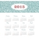Calendar 2015 Year with Decorative Pattern - GraphicRiver Item for Sale