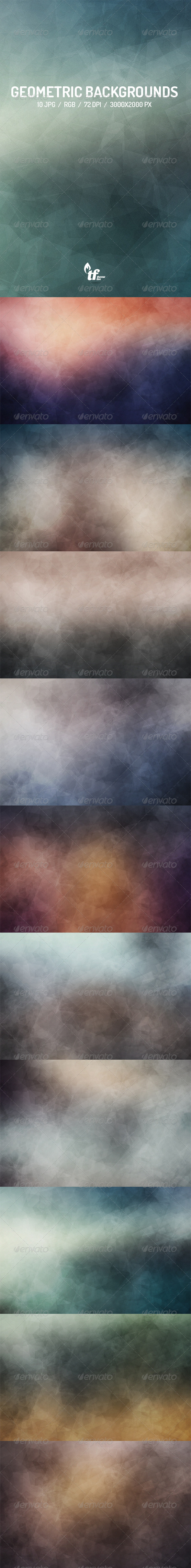 GraphicRiver 10 Geometric Abstract Backgrounds 8516637