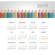 Calendar 2015 Year with Colored Pencils - GraphicRiver Item for Sale