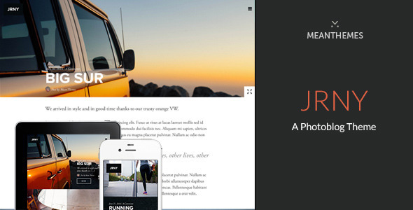 ThemeForest JRNY A Photoblog Theme for WordPress 8474742