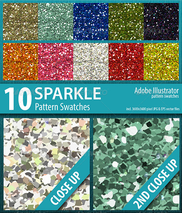 GraphicRiver 10 Sparkle Glitter Pattern Swatches Vector 8512577