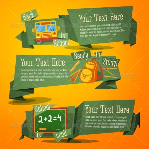 GraphicRiver Back to School Banners 8516663
