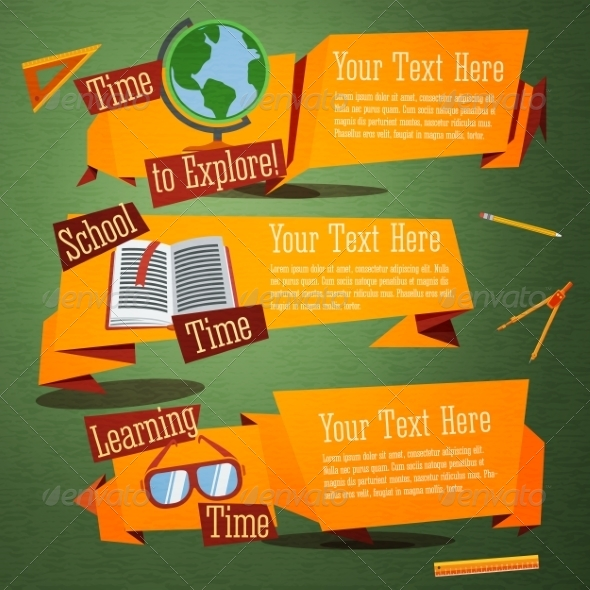 GraphicRiver Back to School Banners 8516680