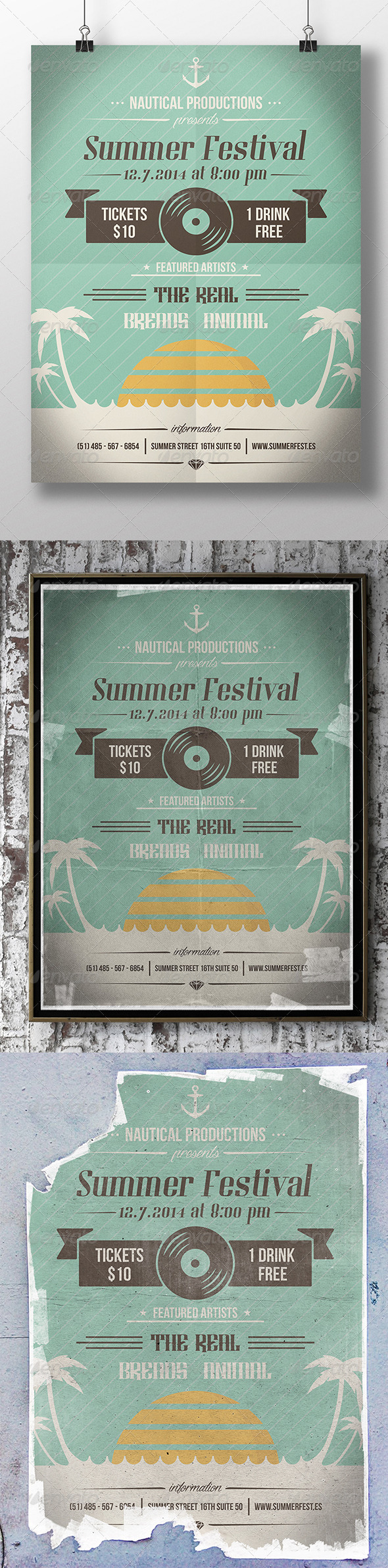 GraphicRiver Summer Beach Party Flyer 8516798