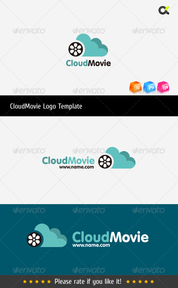 GraphicRiver CloudMovie Logo Template 8516801