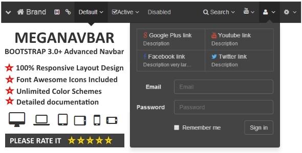 CodeCanyon MegaNavbar Advanced Navbar for Bootstrap 3.0& 8516895