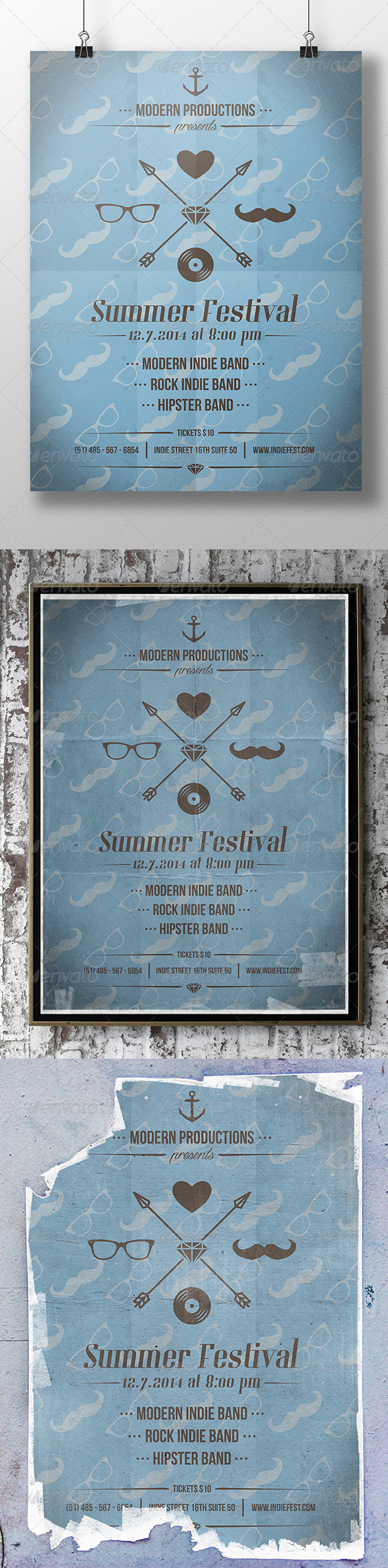 GraphicRiver Hipster Party Poster Flyer 8516899