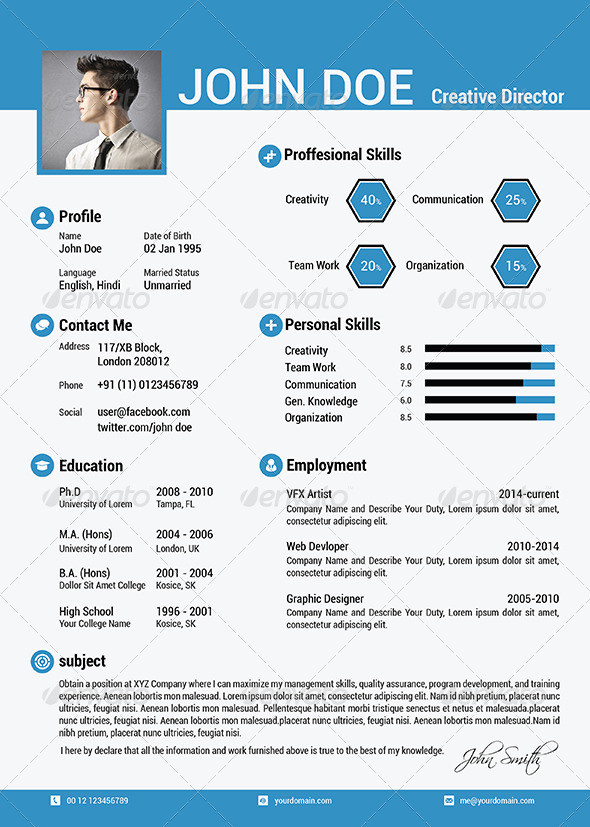 the simple cv resume vol 5 by cg virous graphicriver