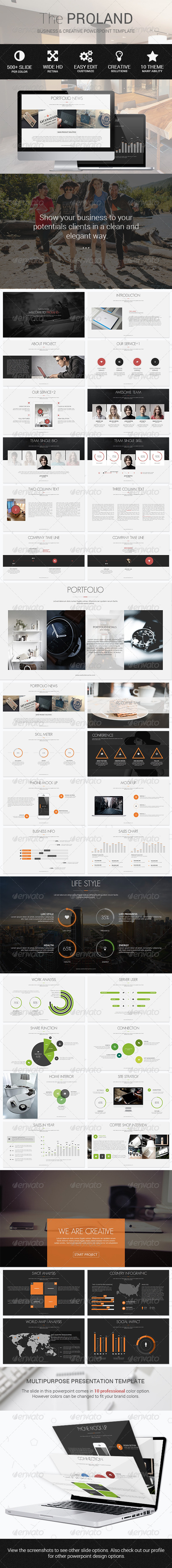 GraphicRiver Proland Powerpoint Multipurpose Template 8516917