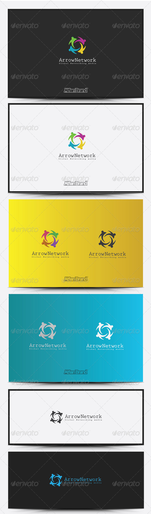 GraphicRiver Arrow Networking Logo 8516945