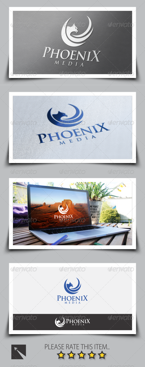GraphicRiver Phoenix Media Logo Template 8516965