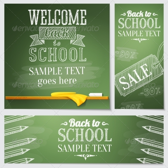 GraphicRiver School Banners 8517034