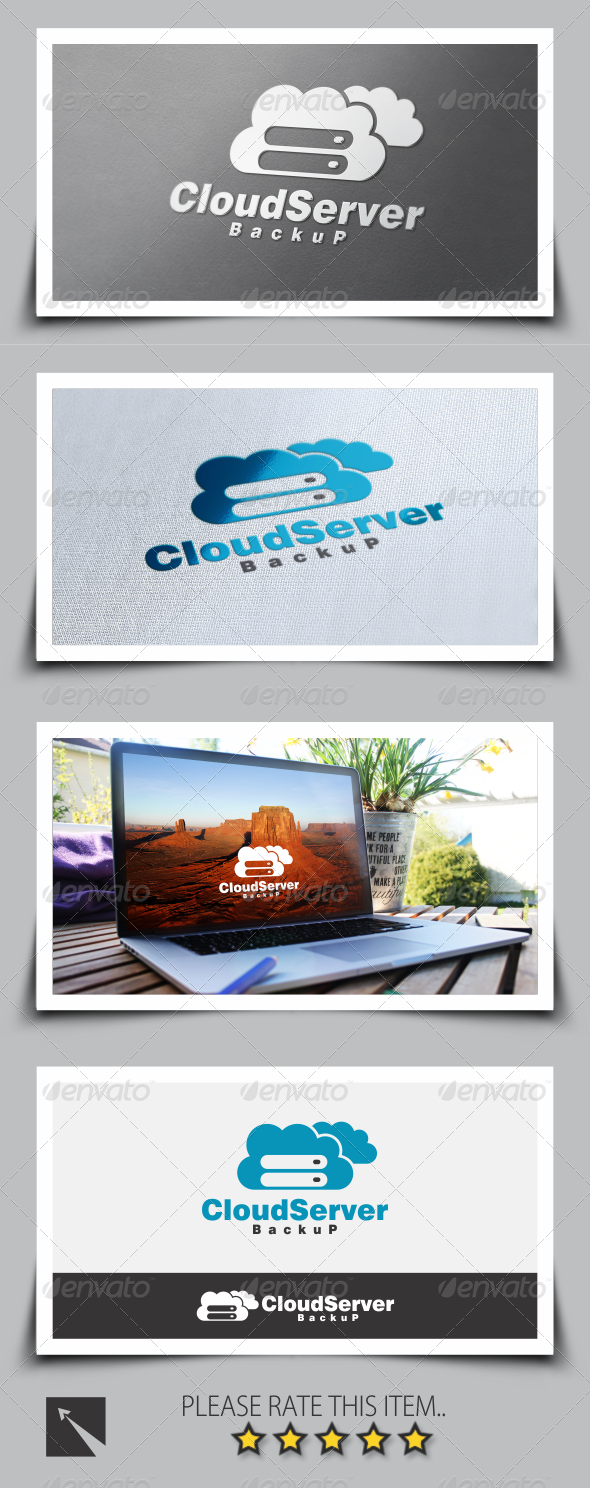 GraphicRiver Cloud Server Logo Template 8517038