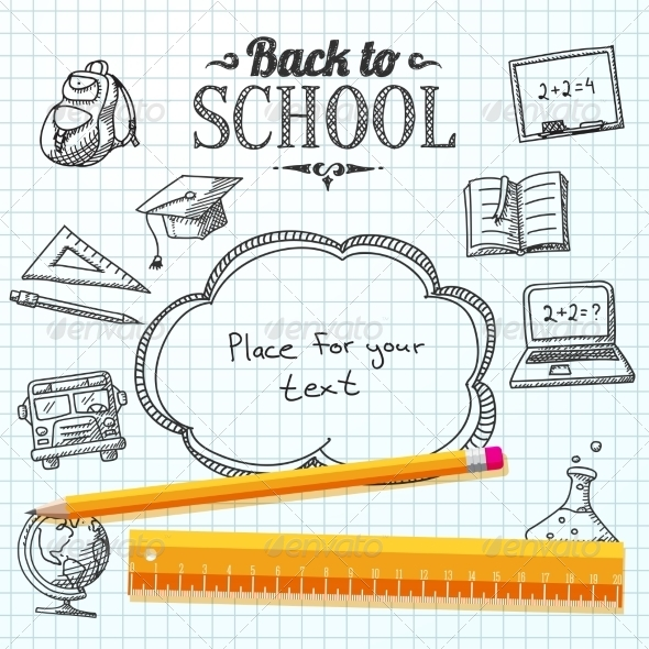 GraphicRiver Back to School Paper 8517039