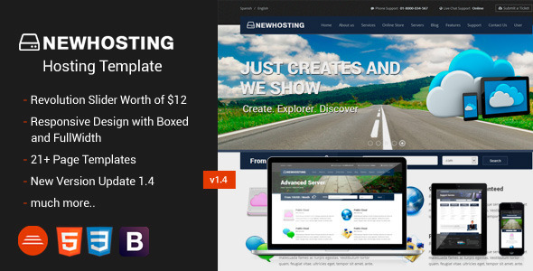 NewHosting - Responsive Hosting Css3/Html5 Theme - Hosting Technology