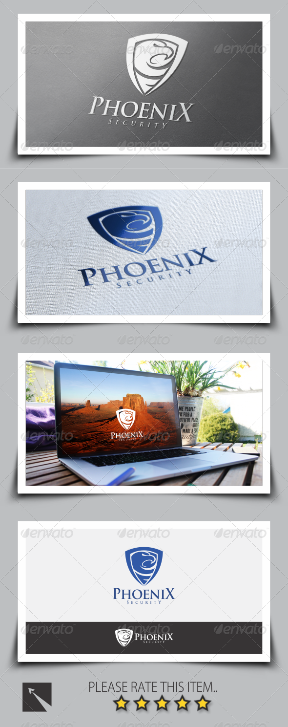 GraphicRiver Phoenix Security Logo Template 8517050