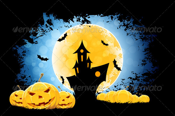 GraphicRiver Grungy Halloween Background 8517052