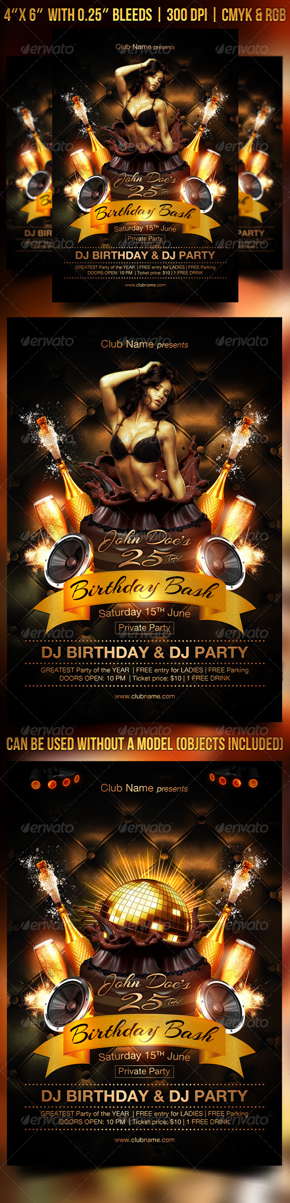 GraphicRiver Birthday Bash Flyer Template 8517069