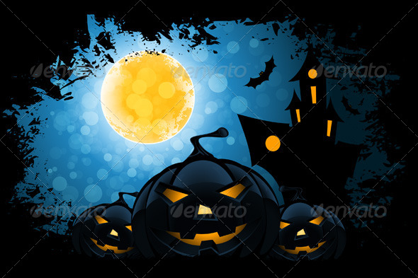 GraphicRiver Grungy Halloween Background 8517074