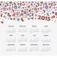 Calendar 2015 Year with Christmas Pattern - GraphicRiver Item for Sale