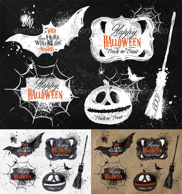 GraphicRiver Halloween Set Symbols 8517117