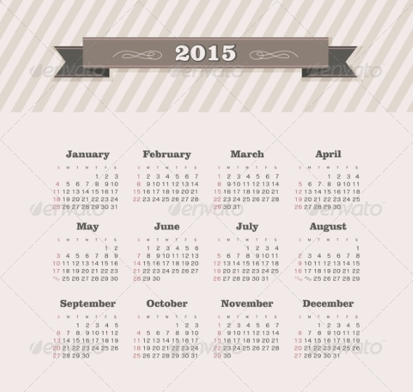 GraphicRiver Calendar 2015 Year 8517121