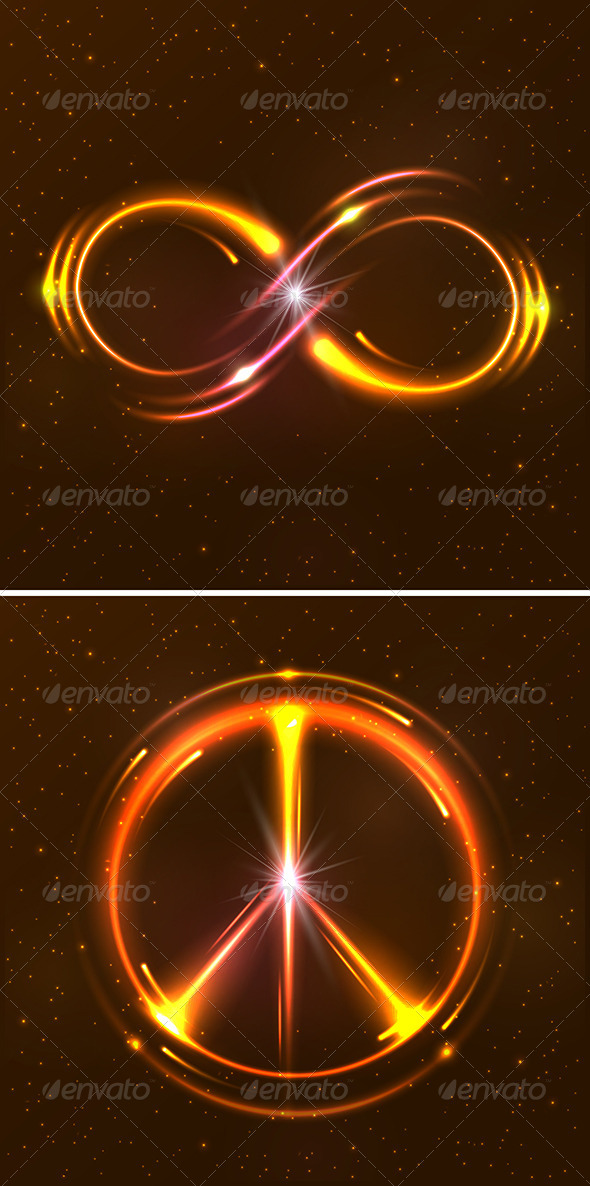 GraphicRiver Shining Neon Lights Design Symbols 8517176