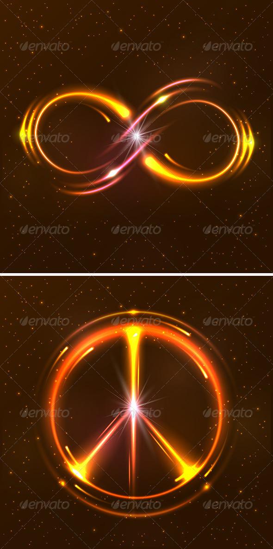 GraphicRiver Shining Neon Lights Design Symbols 8517176
