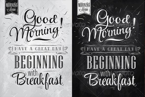 GraphicRiver Poster Lettering Good Morning 8517181