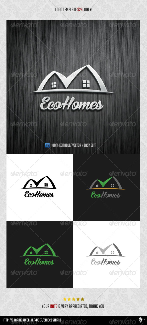 GraphicRiver Eco Homes Logo Template 8517343