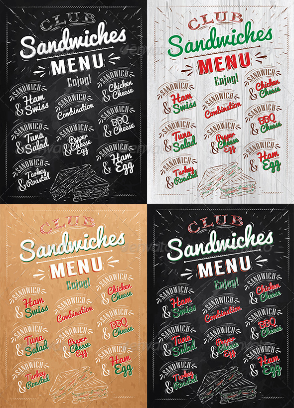 GraphicRiver Sandwiches Menu 8517377