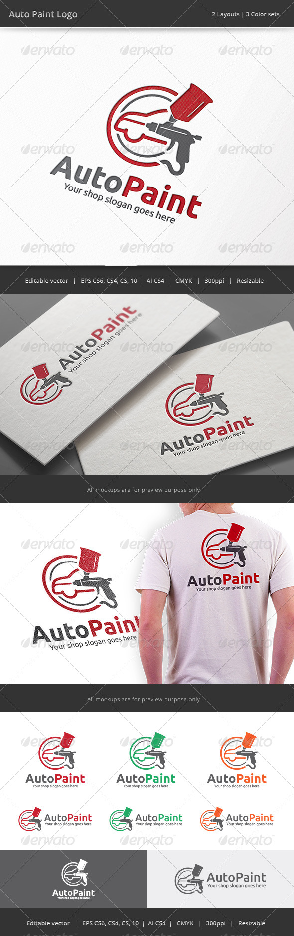 GraphicRiver Auto Car Body Paint Logo 8517630