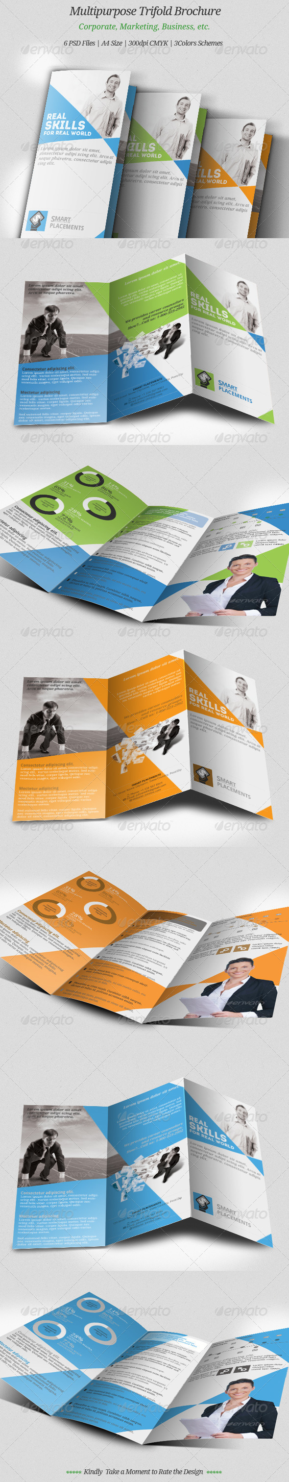 GraphicRiver Multipurpose Trifold Brochure 8502931