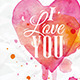 Watercolor Valentines Day Heart - GraphicRiver Item for Sale
