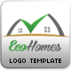 Eco Homes Logo Template - GraphicRiver Item for Sale