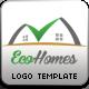 Eco Homes Logo Template - GraphicRiver Item for Sale