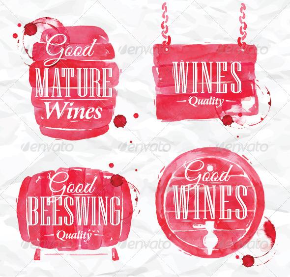 GraphicRiver Watercolor Wine Cask 7742835