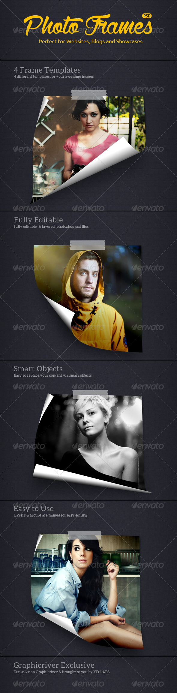 GraphicRiver Curl Photo Frames 8517989