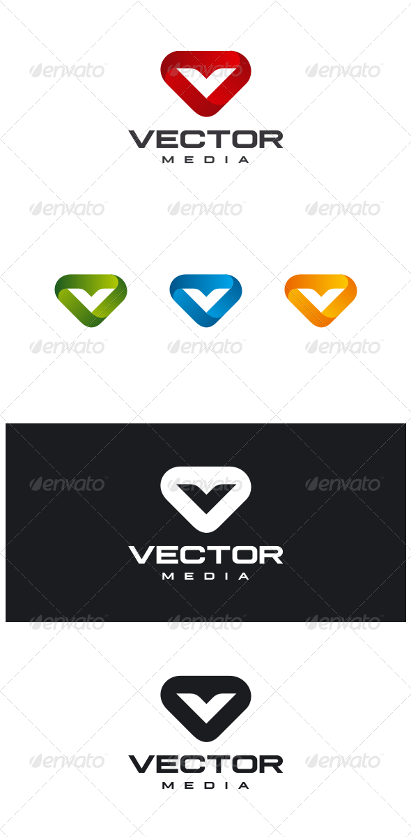GraphicRiver Vector Media Letter V Logo 8518280