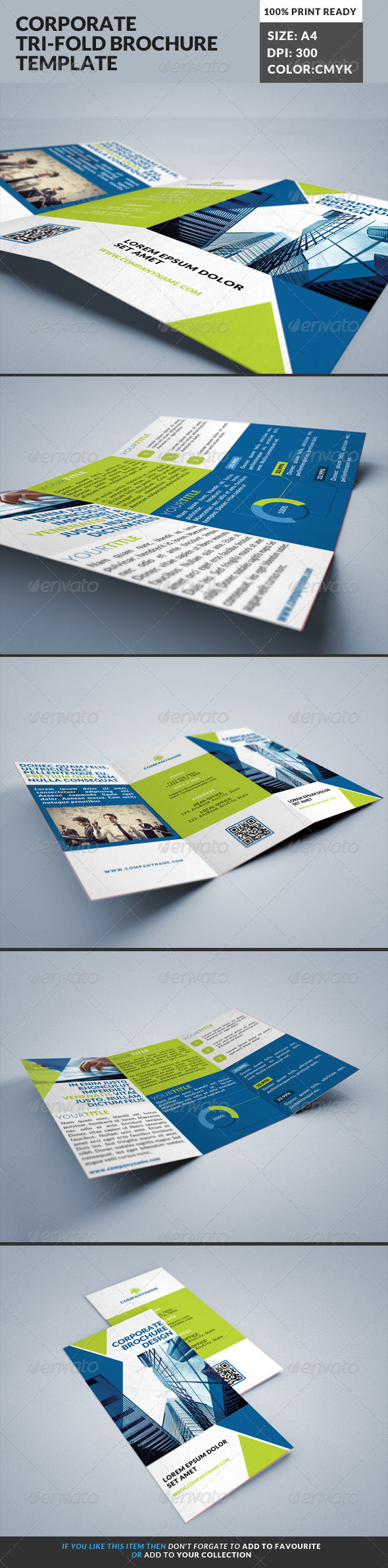 GraphicRiver Corporate Tri-Fold Brochures Template 19 8505502