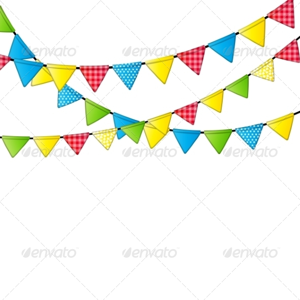 GraphicRiver Party Flag Background 8518305