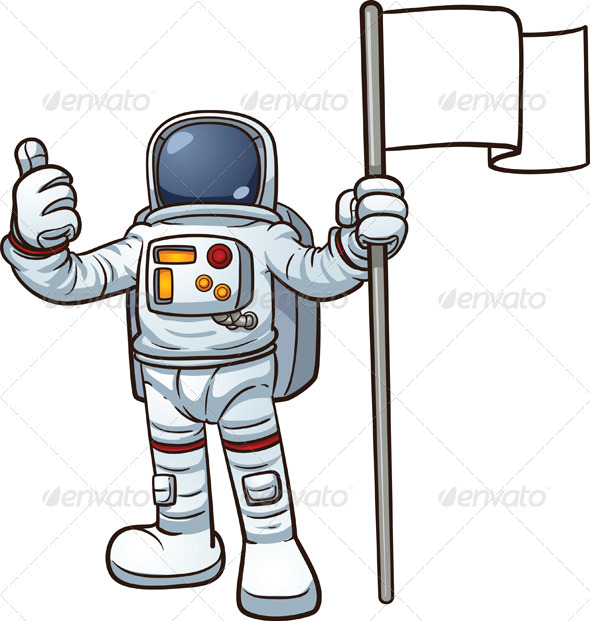 GraphicRiver Cartoon Astronaut 8518338