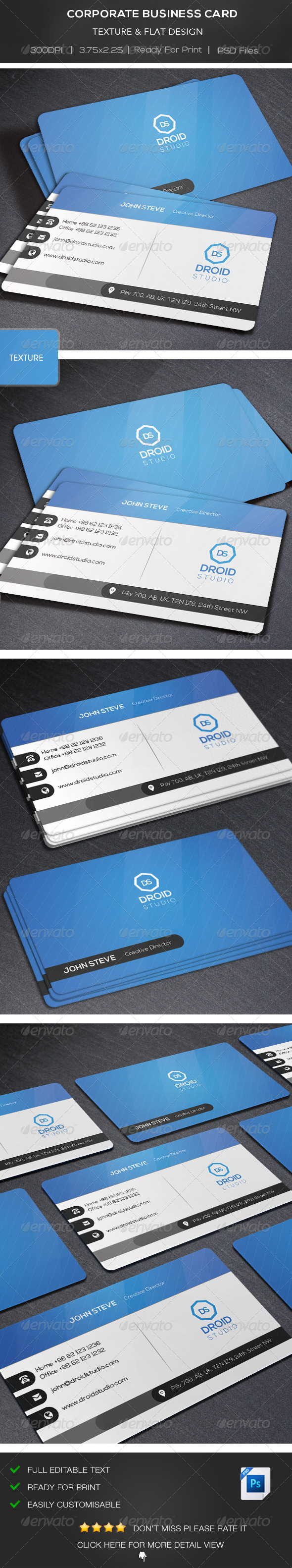 GraphicRiver Corporate Business Card 8518398