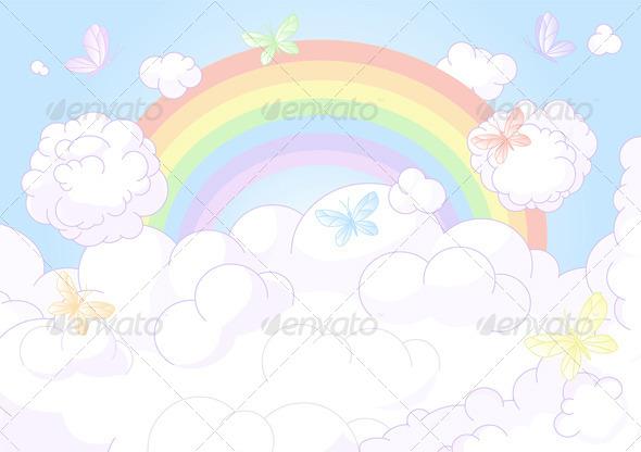 GraphicRiver Rainbow Sky 8518424