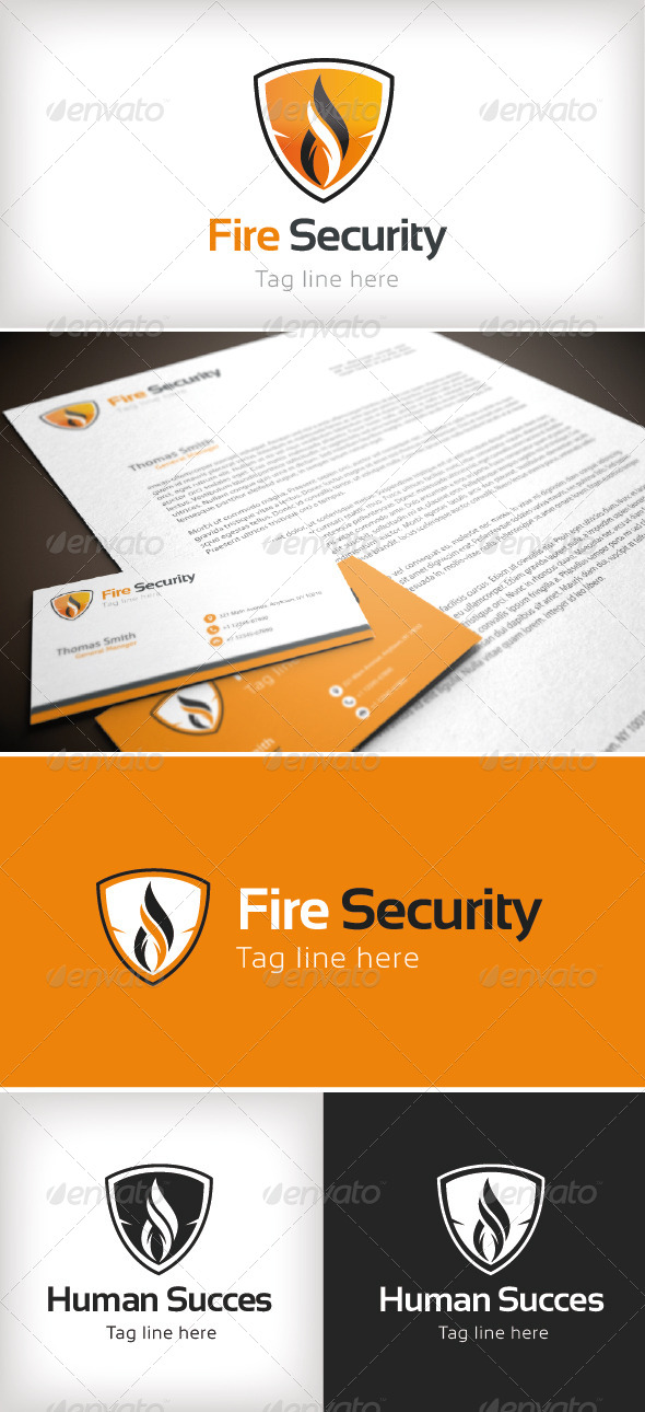 GraphicRiver Fire Security Logo Template 8518440