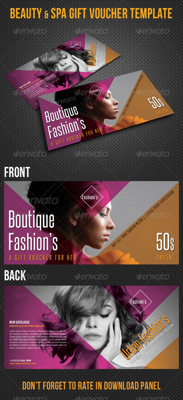 GraphicRiver Beauty Fashion Gift Voucher V31 8518335