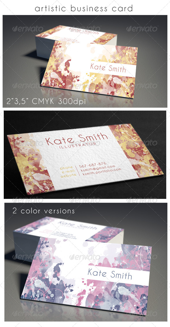 GraphicRiver Colorful Business Card 8518445