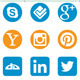 Social Media Shining Icons - Different Shapes